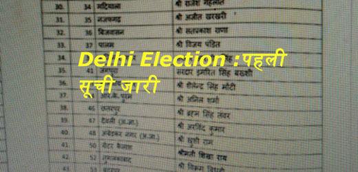 Delhi Election: बीजेपी ने उम्मीदवारों की घोषणा में मारी बाजी, पहली सूची में 57 केंडिडेट्स के नाम..