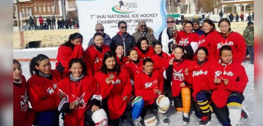 लद्दाख की महिला टीम बनी 7वें नेशनल आइस हॉकी चैंपियनशिप की विजेता..
