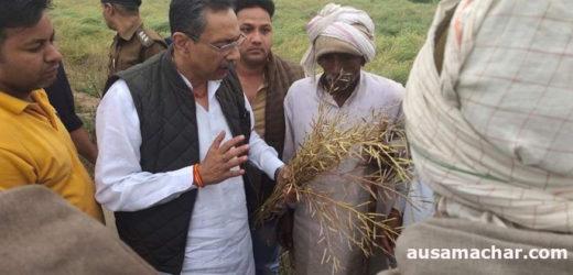 भरतपुर: पर्यटन मंत्री ने ग्रह जिले में दिए वास्तविक गिरदावरी के निर्देश, बेटे ने भी किया गांवों का दौरा