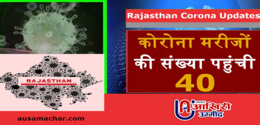 राजस्थान अपडेट: कोरोना मरीजों की संख्या पहुंची 40, यहां मिले नए पॉजिटिव केस