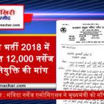 राजस्थान : संविदा नर्सेज एसोसिएशन ने मुख्यमंत्री को सौंपा ज्ञापन, पदस्थापन सूची की मांग
