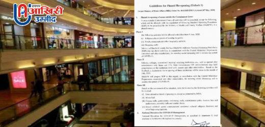 लॉकडाउन के बाद शुरू होगा अनलॉक 1, गृह मंत्रालय ने जारी किए निर्देश